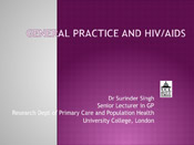 First slide of General Practice and HIV/AIDS